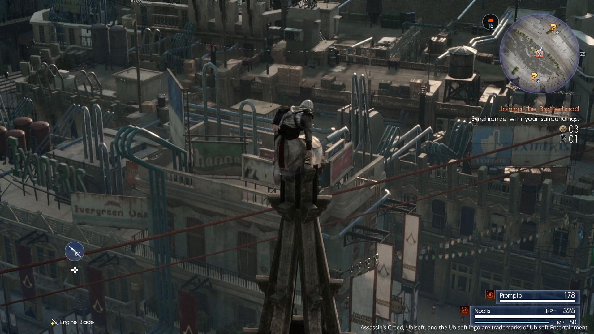 「アサシンズ・フェスティバル」では「アサシン クリード」シリーズ最大の特徴である「フリーランニング」に似た操作感が体験できる。  高所からのジャンプや、壁を登り